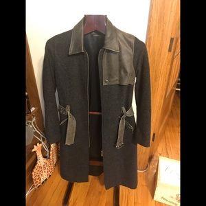 Beautiful Rudsak leather +wool jacket size S